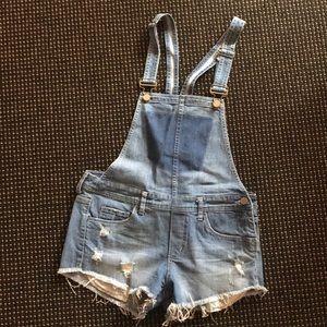 Cutest denim short overalls!
